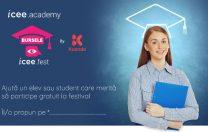 300 de burse pentru elevi și studenți la iCEE.fest