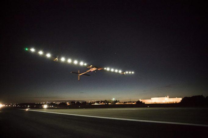 solar impulse 1 by night