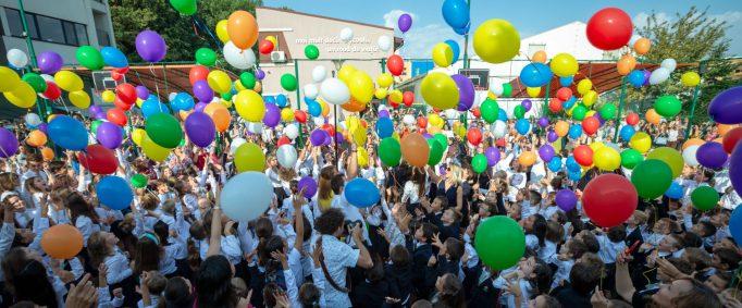 an școlar școală baloane