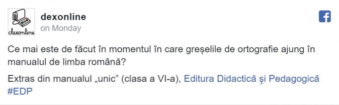 manualul română greșeală
