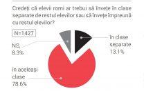 Studiu sociologic: Unul dintre opt profesori ar dori clase separate pentru romi. Unul din trei este homofob