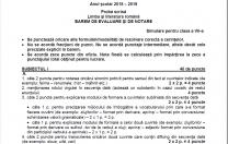 Care este baremul de corectare la simularea de Evaluare Națională-proba de limba română