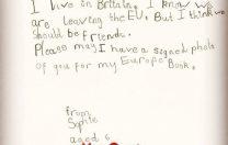 BREXIT și copiii. Ce i-a scris o fetiță de 6 ani președintelui Consiliului European