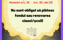 CJE Iași lansează campania #elevNUinstrument. Ce află școlarii despre fondul clasei și uniforme
