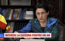 Pro Tv: Ecaterina Andronescu anunță că 8000 de profesori vor avea interdicția de a preda, timp de un an