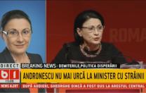 """Andronescu, după demitere: """"Nu a fost o declarație nefericită. A fost scoasă din context!"""""""