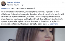 Senatorul PSD Șerban Nicolae lansează un mesaj suburban către contestatarii legii sale