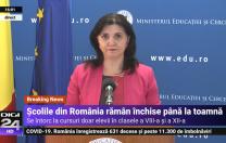 Monica Anisie: Evaluarea Națională va începe pe 15 iunie. Bacalaureatul va începe pe 22 iunie