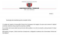 Studenții unei universități din Cluj-Napoca, obligați să jure că nu vor copia la examenele online