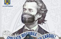 """Poliția Română i-a pus """"mască chirurgicală"""" lui Eminescu"""