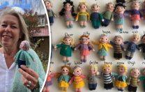 """Pentru că îi era dor de elevii săi, o profesoară i-a """"transformat"""" pe toți în figurine croșetate"""