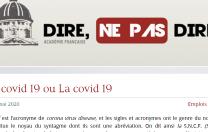 Academia Franceză: Covid-19 este un substantiv de genul feminin