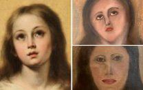 Încă o operă de artă distrusă de restauratori: au șters imaginea și au încercat să o deseneze din nou