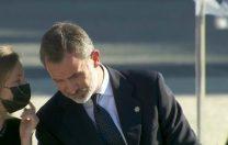 Regele Felipe al Spaniei, atenționat de fiica sa că a uitat să își pună masca de protecție