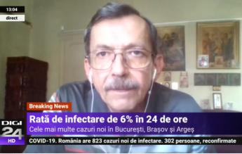 """Dr. Emilian Popovici, despre situația din România: """"Epidemia scade. Depinde ce vor face oamenii în continuare"""""""