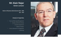 Program de formare online cu Alain Najar, lector principal la École Hôtelière de Lausanne