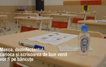 """Cum începe școala în comuna """"smart"""" Ciugud: Dezinfectanți pe fiecare bancă, stații de purificare a aerului"""