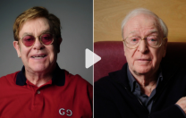 Sir Elton John şi Sir Michael Caine, vedetele campaniei pentru vaccinare din Marea Britanie