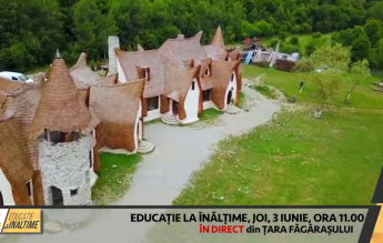Lecție cu drona transmisă în direct de la Castelul de Lut Valea Zânelor pentru mii de copii